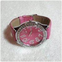 Beautiful pink watch fashion for her