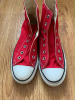 Used Red Converse (laceless)  in Dubai, UAE