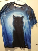 Used Cute blue tshirt with black wolf size XL in Dubai, UAE