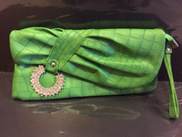 New green shade clutch