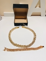 Used Cuban chain necklace & bracelet  in Dubai, UAE