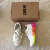 Used ASOS rainbow sneakers (size 39) in Dubai, UAE
