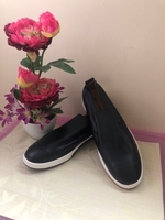NEW Men's Black Moccasin Loafers Size 48