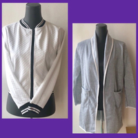 Used Gray Cardigan & White/ Black Jacket  in Dubai, UAE