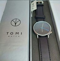 Used TOMI Leather Watch New wd BOX ~ Original in Dubai, UAE