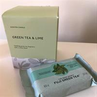 Green Tea Scented Candle And Soap Bar.