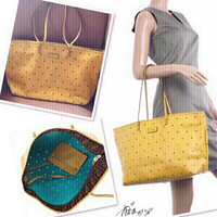 Used Fendi Yellow Roll  Perforated Tote 💙 in Dubai, UAE