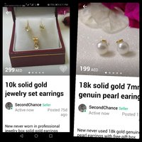 Used Special deal 18k and 10kt pearls and cz in Dubai, UAE
