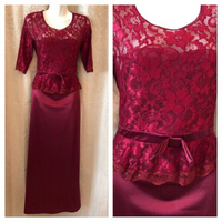 ELEGANT RED DRESS UK8 EU36