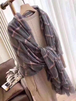100% cotton new scarf length 200cm by 90