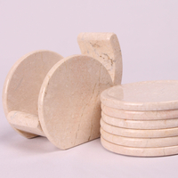 Used Marble Type Cup Plates 6 Pcs..  in Dubai, UAE