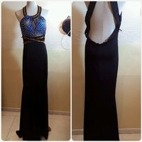 Long dress blue/black backless.....