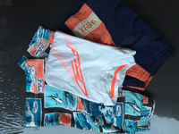 Gap _speefo swim shorts +adidas f shirt
