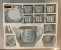 Used New 15 Pcs Tea Set For Sale Blue Design  in Dubai, UAE