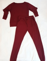 Maroon Sweater &Pants Pair for Women