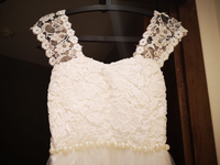 Used Wedding dress size S/M in Dubai, UAE