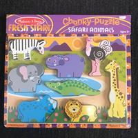 Melissa&doug Safari Animals Chunky Puzzle. Brand New Still In Pacakaging.