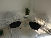 Used Italian design chairs with coffee table in Dubai, UAE