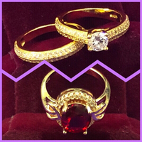 Used Engagement Ring/ Ruby stone  Ring in Dubai, UAE