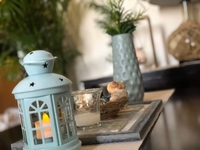 Used Decorative vase with lantern in Dubai, UAE