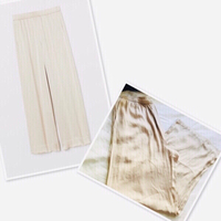 Used H&M wide Silk pants size 12 💙 in Dubai, UAE