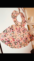 Used floral print tie-up flutter dress 9-12M in Dubai, UAE