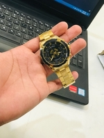 Used Forsining gold black watch in Dubai, UAE