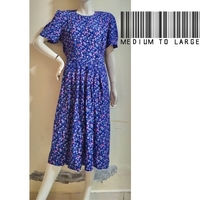 Used Blue floral dress-medium to large-- in Dubai, UAE