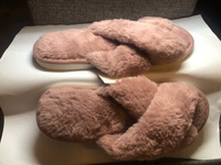 Used Furry home slippers - rose color in Dubai, UAE