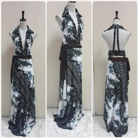 Used Brand name- backless Maxi Dress for lady in Dubai, UAE