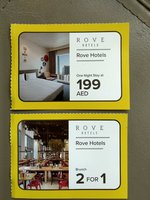 Used Rove Hotel Voucher (2 items) in Dubai, UAE