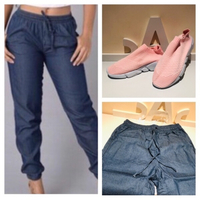 Jeans L and and sneakers 37
