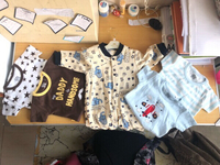 Used 5 New baby boy rompers clothes 👦  in Dubai, UAE