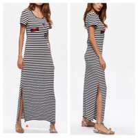 Used Long stripe dress size M in Dubai, UAE