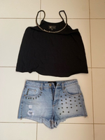 Used Top by lipsy and short in Dubai, UAE