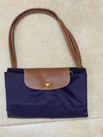 Used Longchamp foldable navy blue tote bag in Dubai, UAE