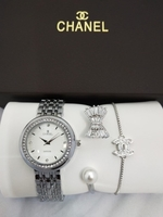 Used CHANNEL LADIES WATCH SET WITH BOX in Dubai, UAE