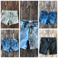 Used 5 shorts for girl size 10-12 y.o. Bundle in Dubai, UAE