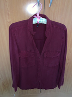 Used Stradivarious maroon color shirt in Dubai, UAE