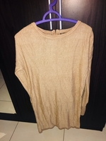 Used Long tunic gold color from mango, L size in Dubai, UAE