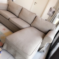 Used Sofa 3 seat with chaise longue + 2 cover in Dubai, UAE