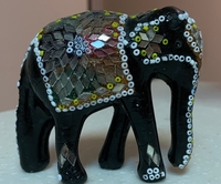 Used A Cute Wooden Decorated Elephant in Dubai, UAE