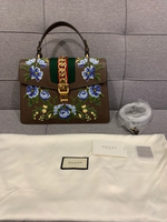 Used Authentic Gucci Sylvie brown top handle  in Dubai, UAE