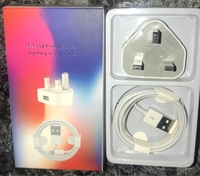 Used I phone charger 5w adapter + usb 5 to 11 in Dubai, UAE