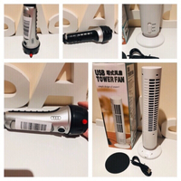 Used USB fan tower & Audi flashlight  in Dubai, UAE