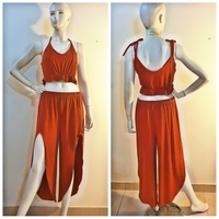 Used Brown oranger 2 piece beachwear in Dubai, UAE