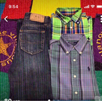 Used 1 Jeans polo and 2 full sleeve shirt in Dubai, UAE