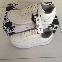 Used boston white croco shoes GMC0906 in Dubai, UAE
