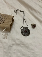 Used Original silver necklace and ring in Dubai, UAE