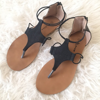 Used Black sandals | Flats  in Dubai, UAE